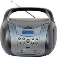 Аудиомагнитола TELEFUNKEN TF CSRP3499B серый/черный