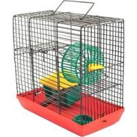 Клетка N1 25х14х33см укомплектованная для грызунов (РПК07)