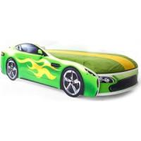 Кровать с матрасом Бельмарко Бондмобиль зеленый