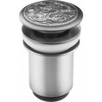 Донный клапан ZorG Antic матовое серебро (AZR