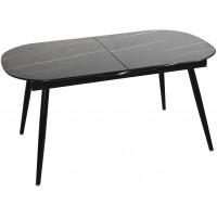 Стол Marble овальный раздвижной чёрный мрамор