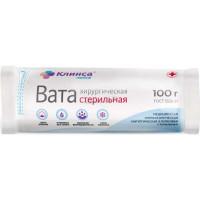 Вата КЛИНСА хирургическая стерильная 100 г