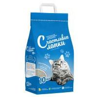 Счастливые лапки Наполнитель для кошачьего туалета Комкующийся