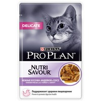 Purina Pro Plan Cat NutriSavour Delicate Turkey